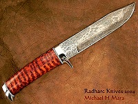 Snakewood Damascus Bowie Knife