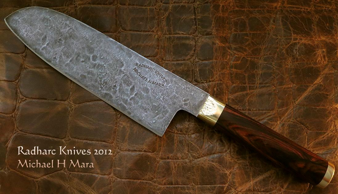 custom handmade knives the cocobolo santoku