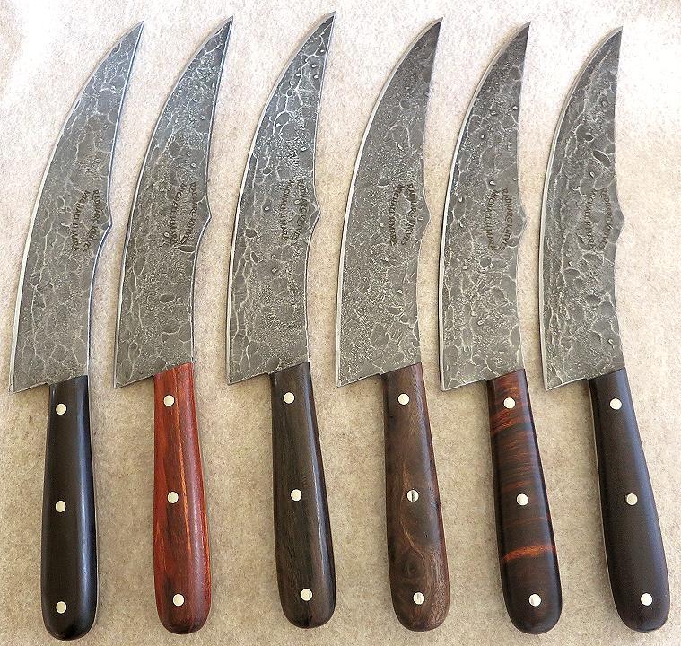 Custom Handmade Knives The Griffiths Steak Knives