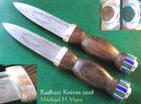 Hand forged Damascus Mitchell Sgian Dubhs