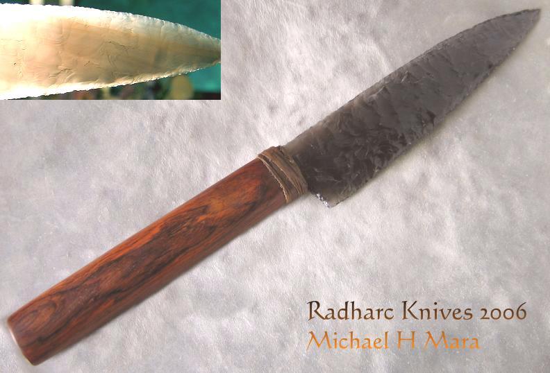 Flintknapped Stone Hunting Knife